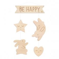 Mobile en bois - Be Happy