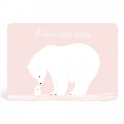 """Hello little baby"" card"