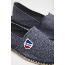 Canvas espadrille - Denim blue