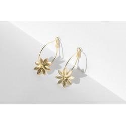 Boucles d'oreilles Fleur -...