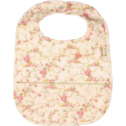 Bib with floral pocket