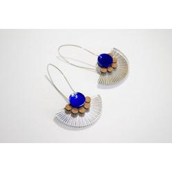 Earrings silver plexiglas-...