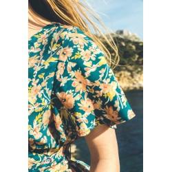 Robe longue Emilie - Amande