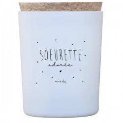 """Bougie """"Sœurette adorée"""""""