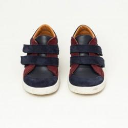 Sneaker Armel - Bleu/Bordeaux