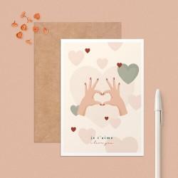"""Postcard """"Je t'aime"""" (I..."""