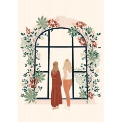 Affiche A4 - Amélie & Manon