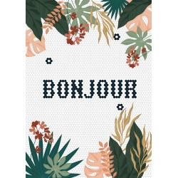 Poster A4 - Bonjour