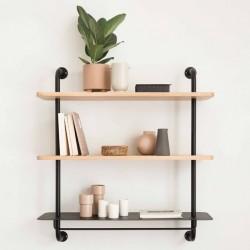 Shelf wood & metal Edgar