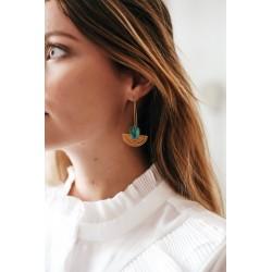 Aztec long earrings