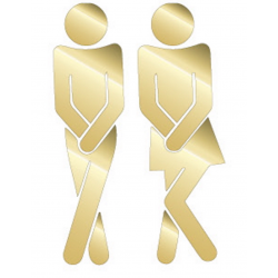 Mr. and Mrs. for the toilet...
