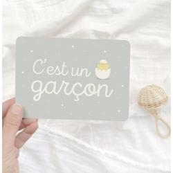 """Carte """"C'est une garçon"""""""
