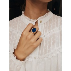 Oval Imperial Ring - Lapis...