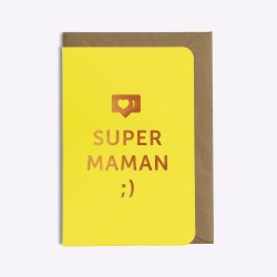 "Super mom"" card - Yellow"