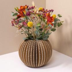 Folding carton round vase