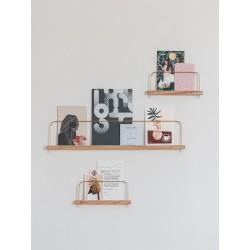 Wood & brass shelves - 3 sizes
