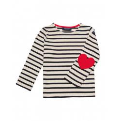 "I love stripes"" ecru-navy..."