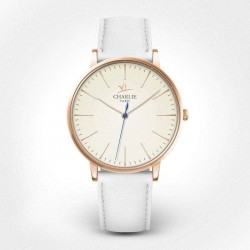 Montre solaire or rose -...