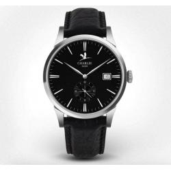 Bastille Watch - Black Leather