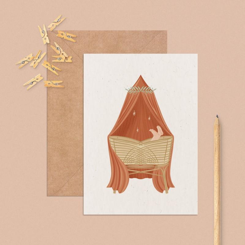 Cradle birth card
