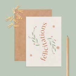 """Carte """"Félicitations"""""""
