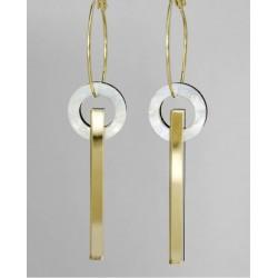 Circle earrings - Plexiglas...