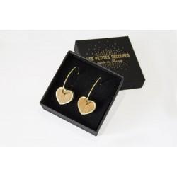 Heart earrings Plexiglas &...
