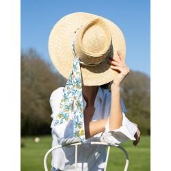 Gwenaëlle straw hat & scarf...