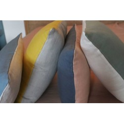Washed linen cushions