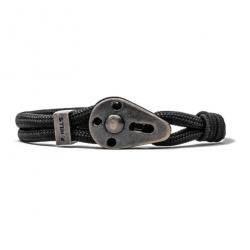 Man bracelet steel & rope