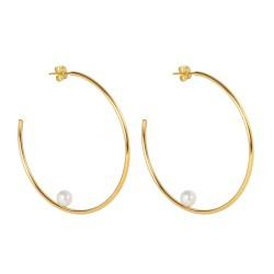 Open hoop earrings with...